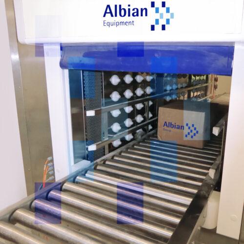 Albian Pass box pallets air shower & UV
