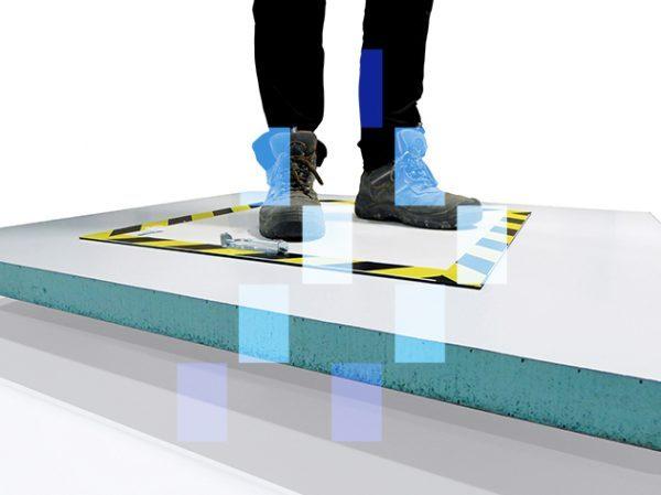 Luminaria pisable para techo transitable