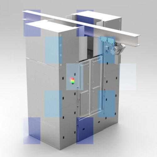 Pass Box Lifted Air shower UV