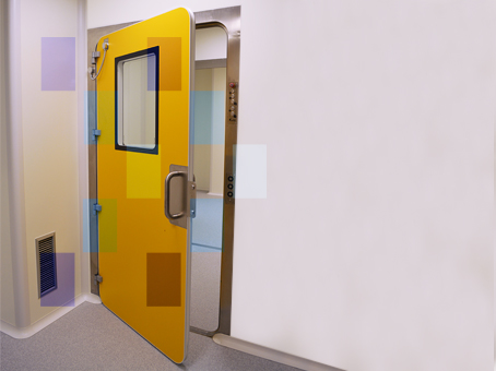 Yellow inflatable gasket door