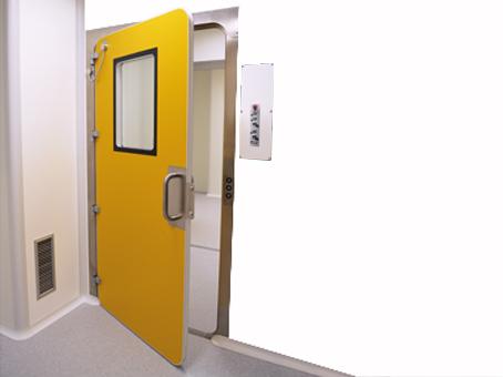DOOR WITH INFLATABLE GASKET