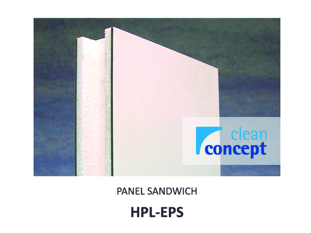 Panel Sándwich HPL-EPS Albian Group para Salas Limpias.