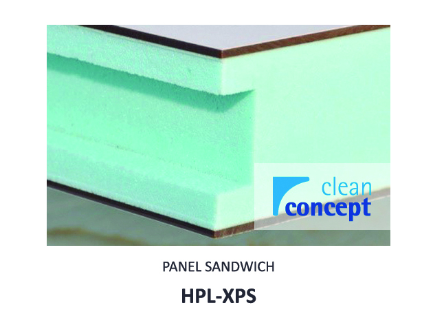 Panel Sándwich HPL-XPS Albian Group para Salas Limpias
