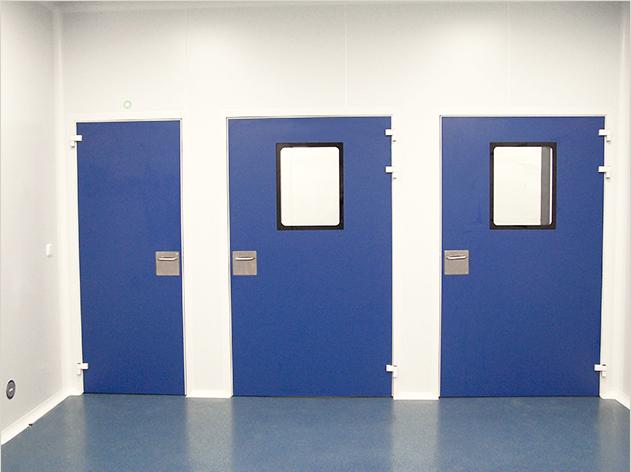 Puertas enrasadas CR 60 con Mirillas Clean Concept para Salas Limpias