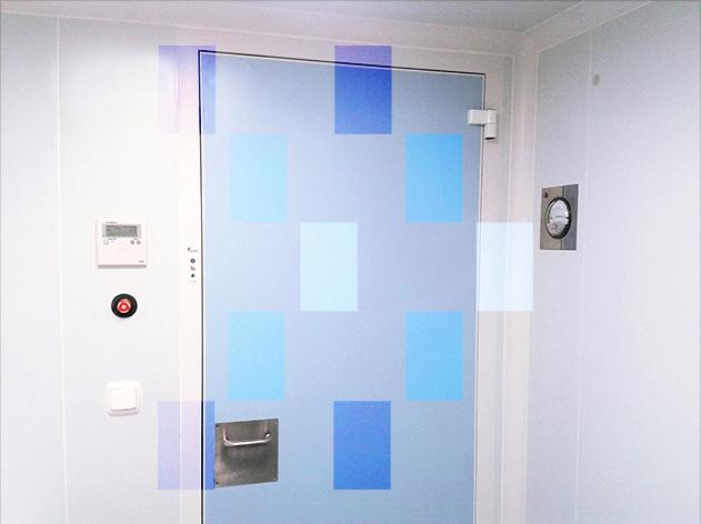 Porte pour salles propres