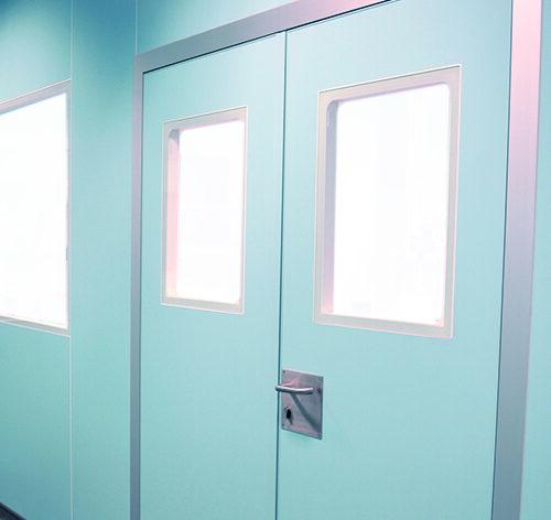 Puerta con Mirilla doble para Sala Limpia
