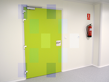 Door for clean rooms