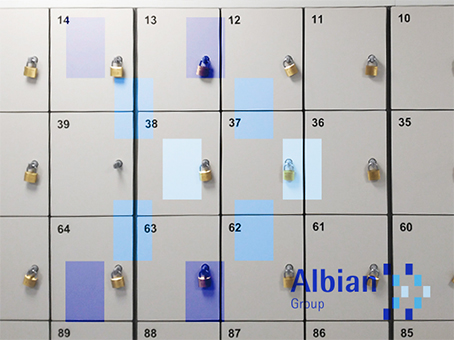 Albian Group pigeonhole lockers for changing rooms for access to clean rooms