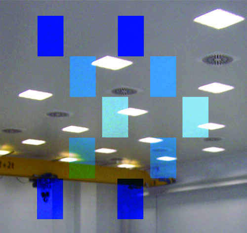 Ceilings and lights for clean rooms