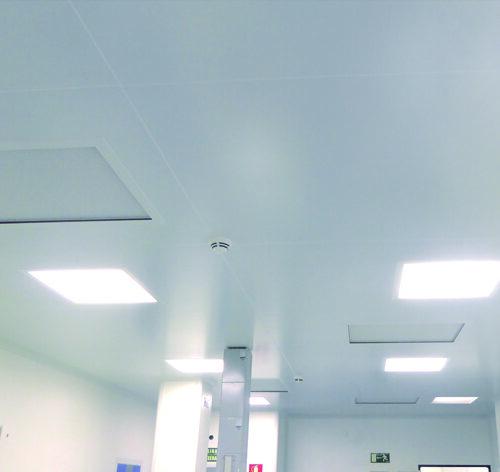 Techos y luminarias para Salas Limpias