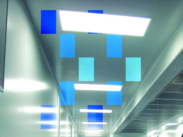 Plafonds et luminaires pour salles blanches