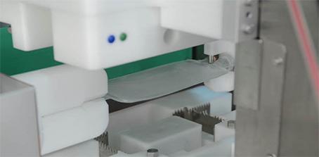 Inspección visual automática de bolsas de plástico BM, Convel.
