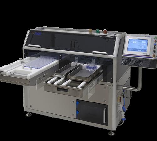 Máquina automática para detección de fugas de ampollas y viales de vidrio.